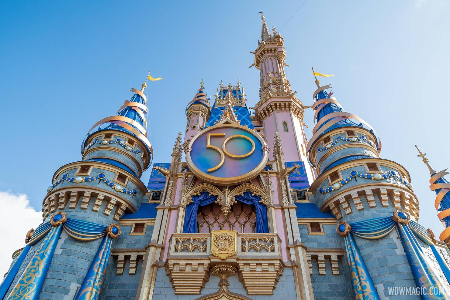 50th crest added to Cinderella Castle