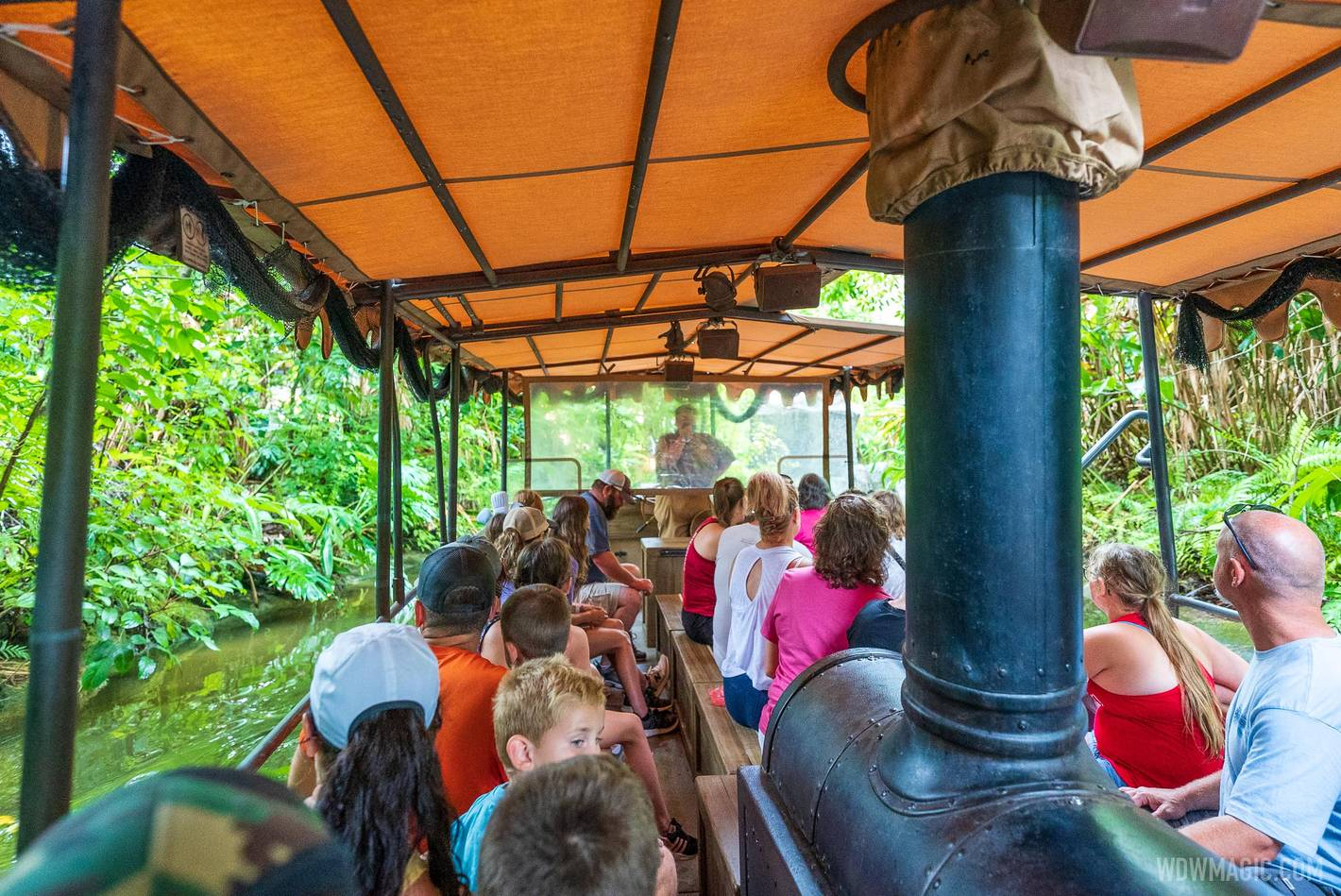 Even the middle bench is now in use at Jungle Cruise