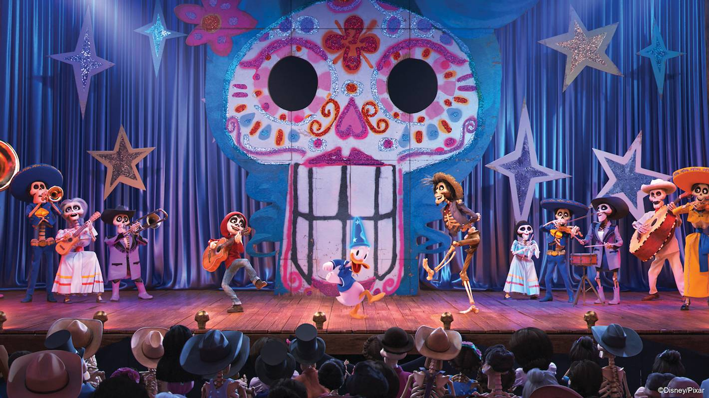 Disney and Pixar's Coco scene at Mickey's PhilharMagic