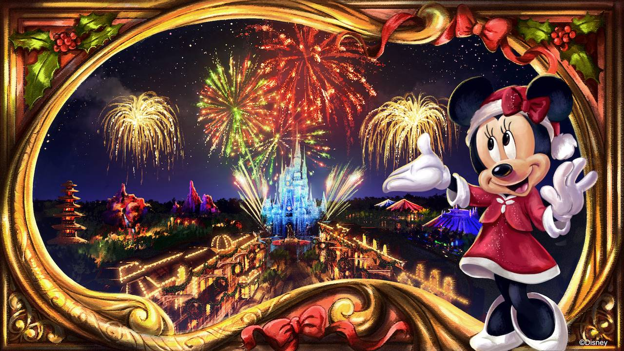 Minnie's Wonderful Christmastime Fireworks show concept art