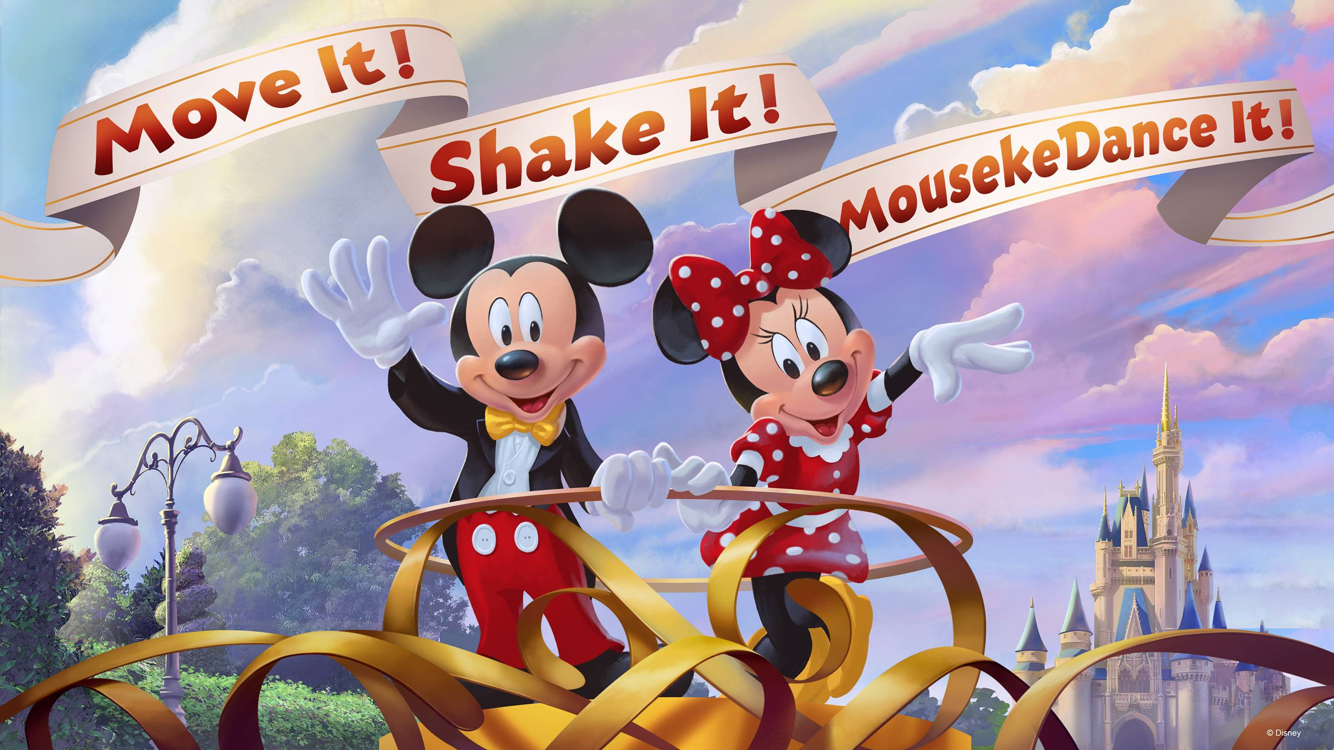 Move It! Shake It! MousekeDance It! Street Party concept art