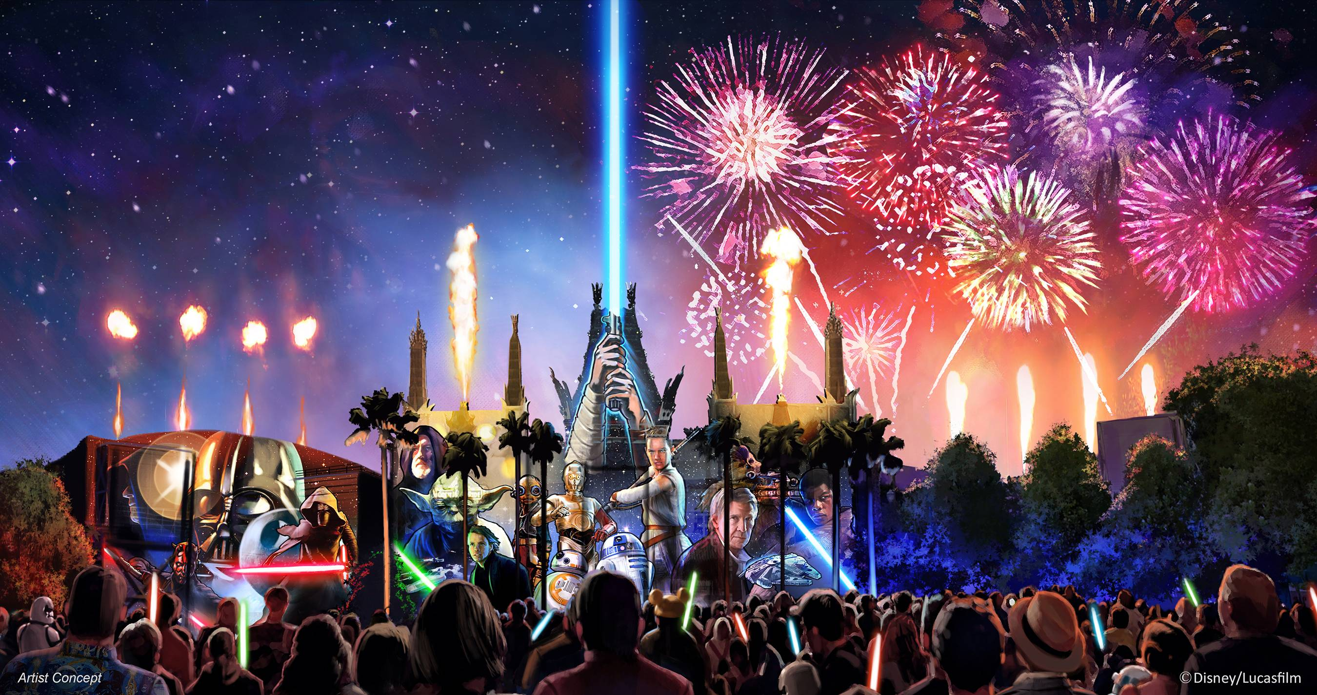 Star Wars A Galactic Spectacular firework show concept art