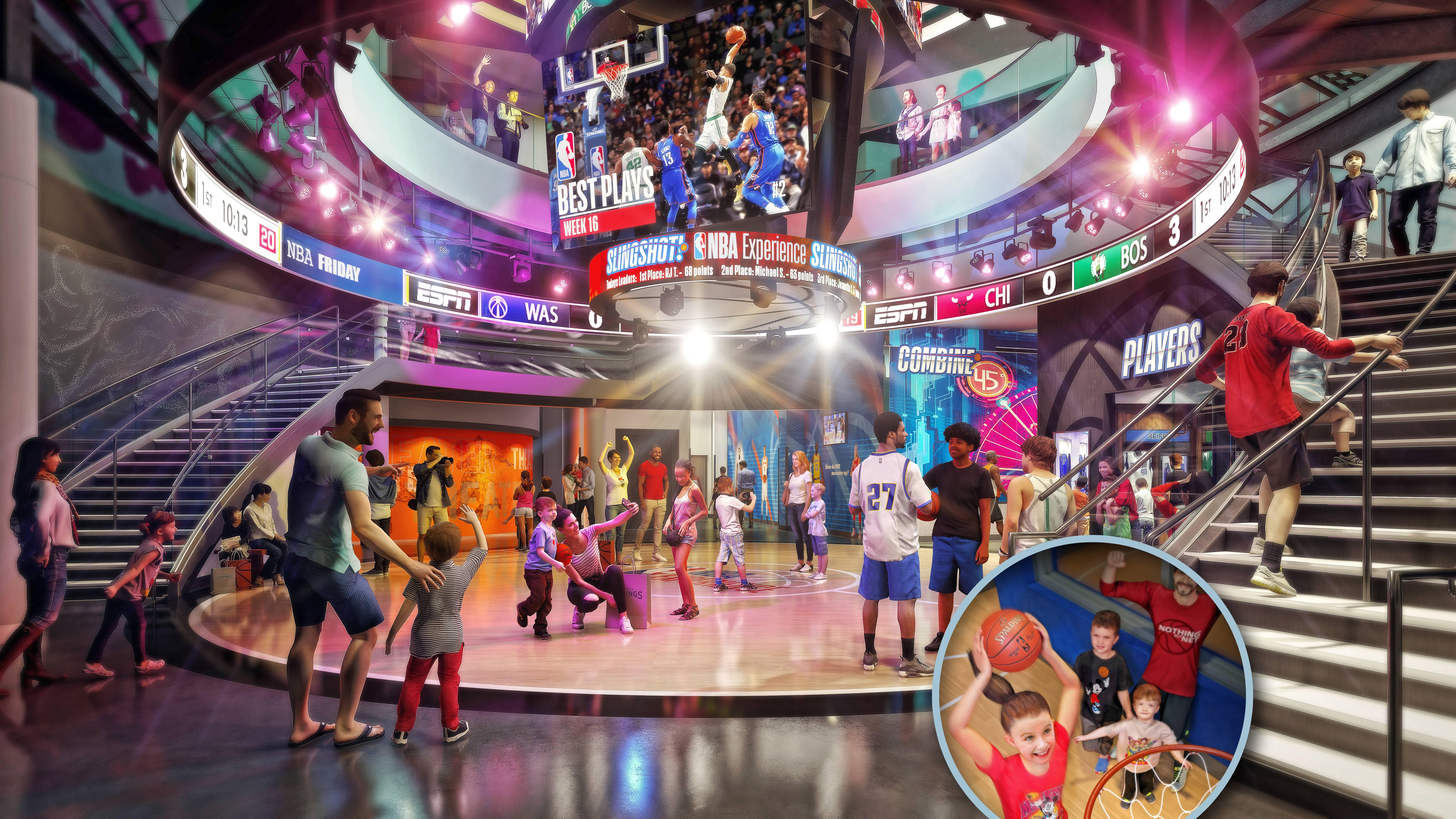 The NBA Experience concept art