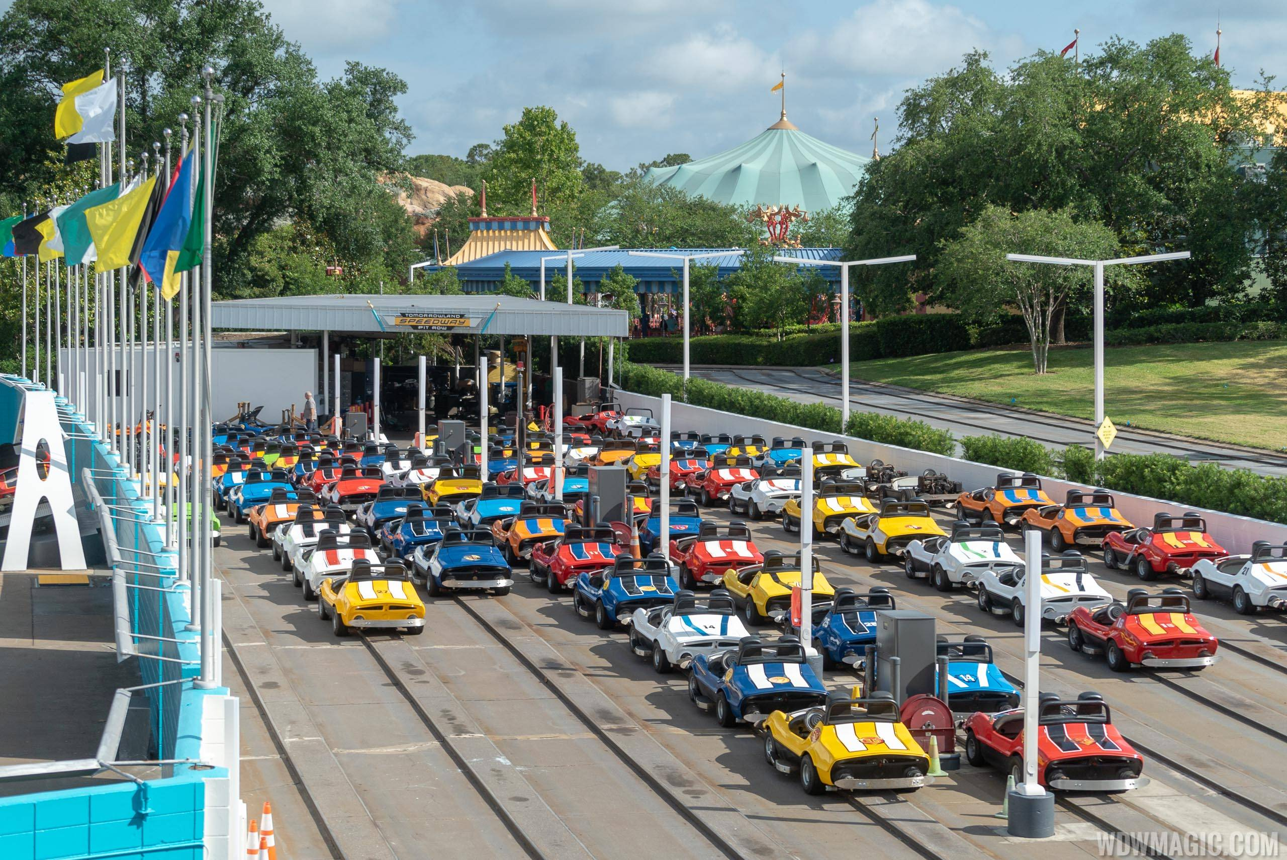 Tomorrowland Speedway Pit Row