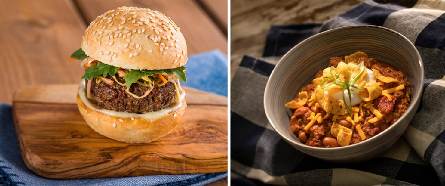 Earth Eats - The Impossible Burger Slider and Impossible Three-Bean Chili