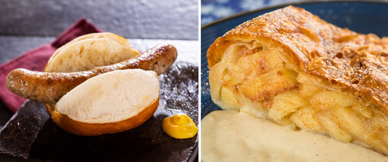 Germany - Roast Bratwurst and Apple Strudel