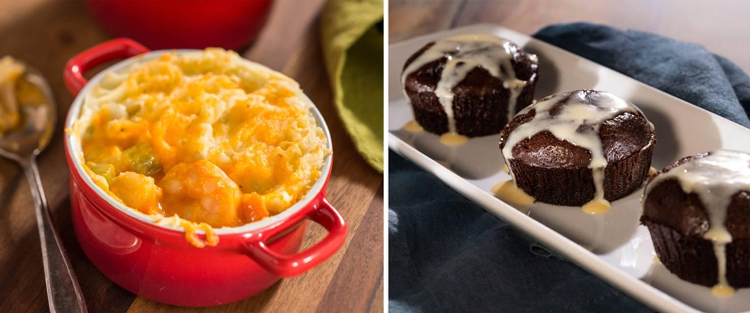 Ireland - Fisherman's Seafood Pie and Warm Chocolate Pudding Cake