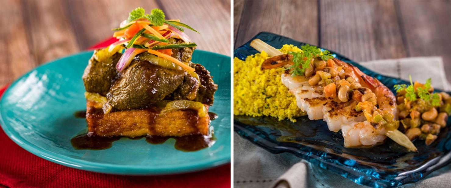 Kenya - Kenyan Coffee Barbecue Beef Tenderloin and Piri Piri Skewered Shrimp