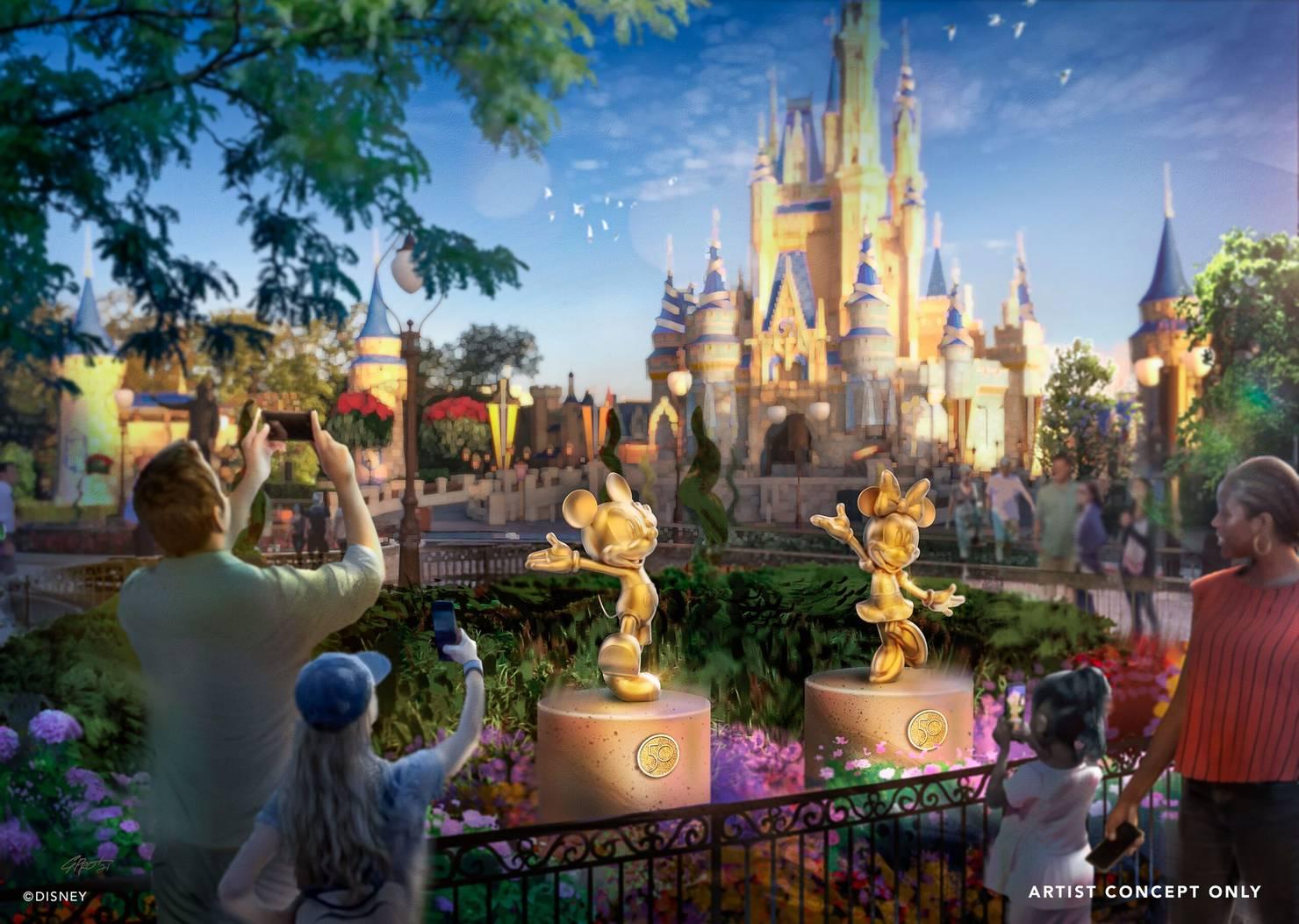 Golden Disney Fab 50 Sculptures